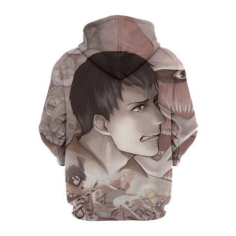 Image of Attack On Titan Reiner Bert 3D Hoodie