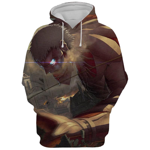 Image of Attack On Titan Eren Jeager 3D Printed Hoodie