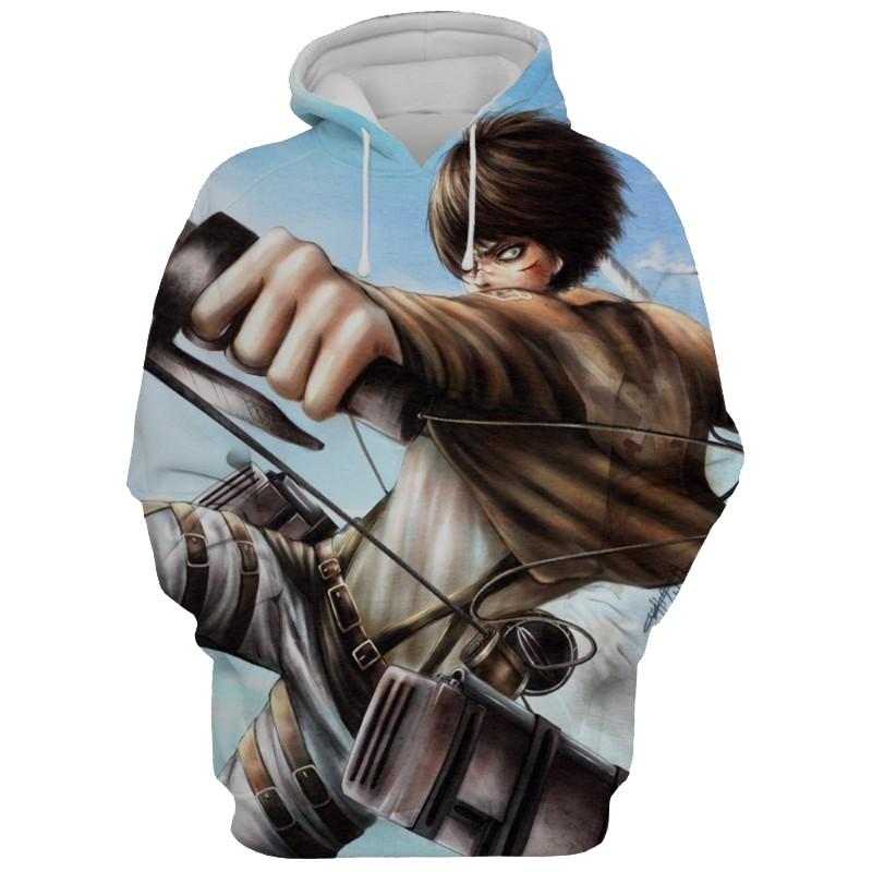 Eren Yeager Armour Attack On Titan 3D Printed Hoodie