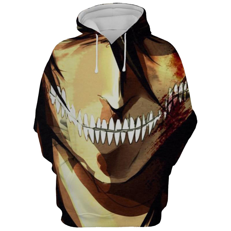 Eren Jaeger Attack On Titan 3D Printed Hoodie