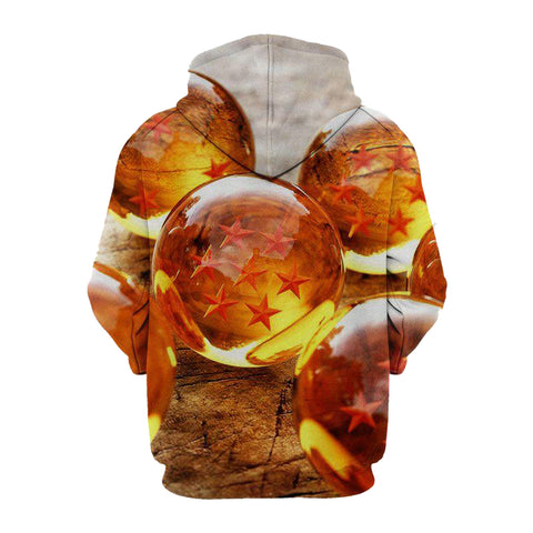 Image of Ball Z Crystal- 3D Printed Dragon Ball Hoodie