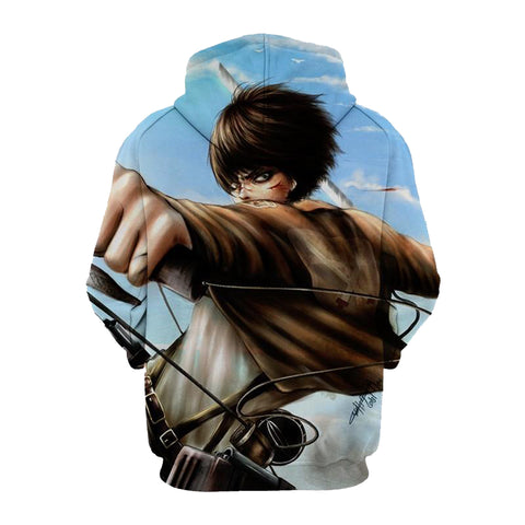 Image of Eren Yeager Armour Attack On Titan 3D Printed Hoodie