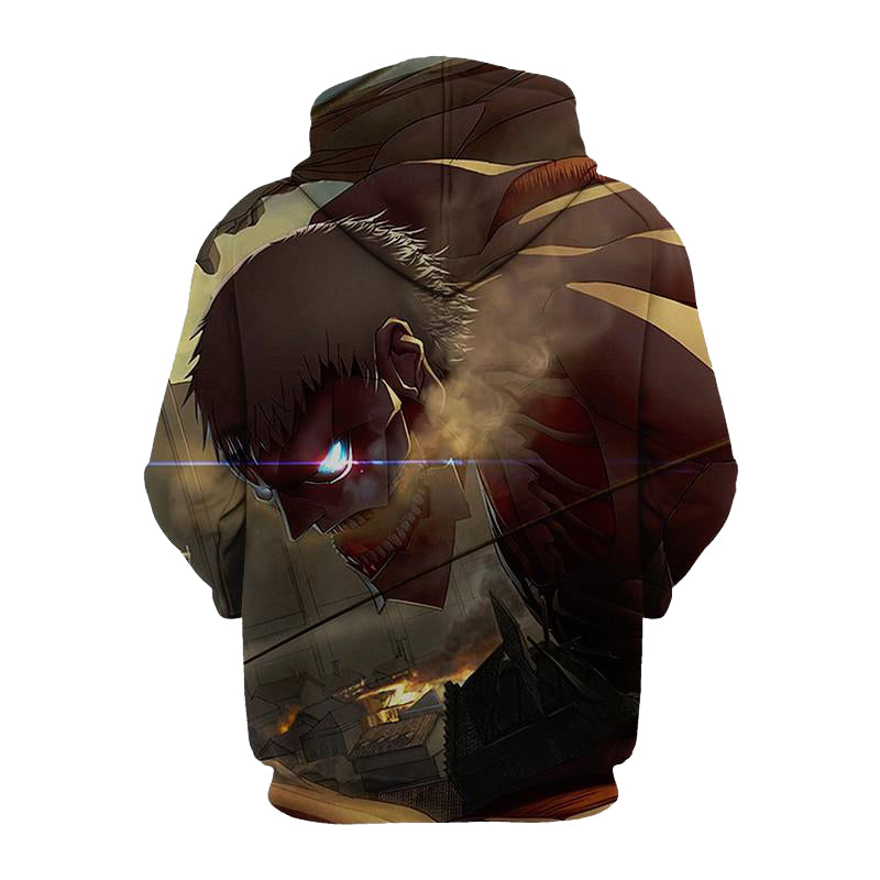 Attack On Titan Eren Jeager 3D Printed Hoodie