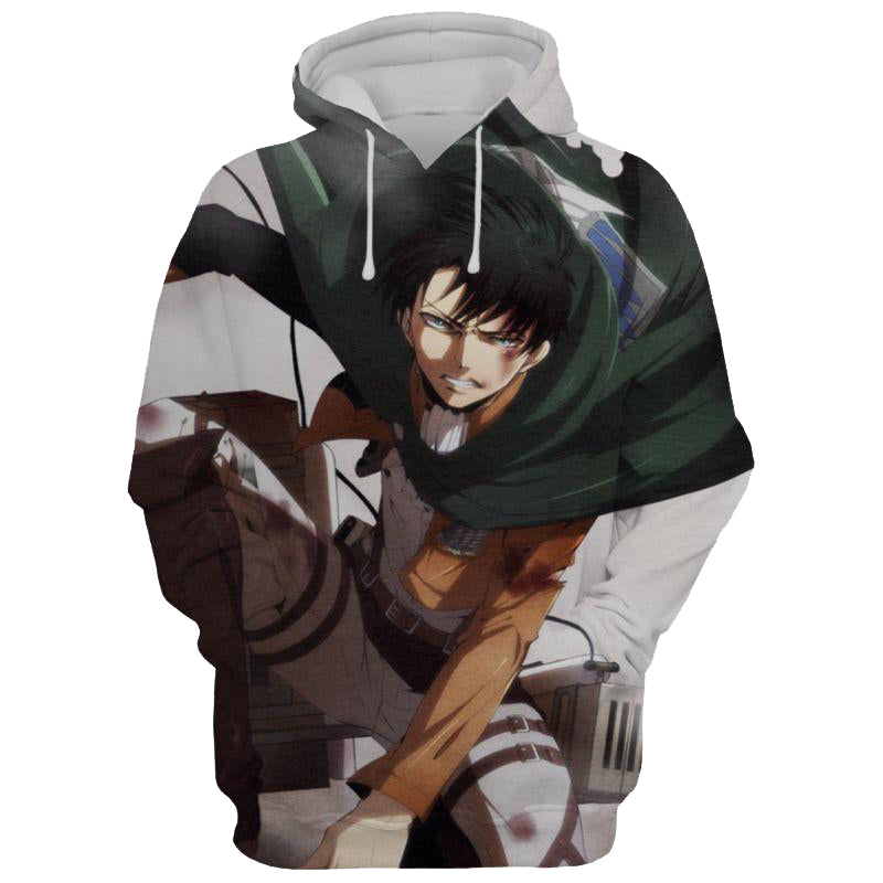 New Levi Ackerman Attack On Titan 3D Printed Hoodie