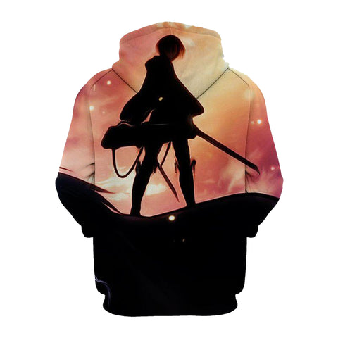 Image of Levi Attack on Titan 3D Printed Hoodie
