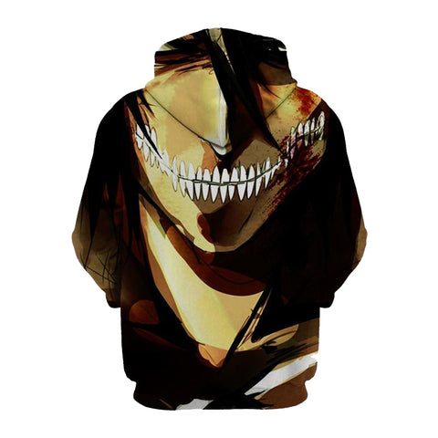 Image of Eren Jaeger Attack On Titan 3D Printed Hoodie