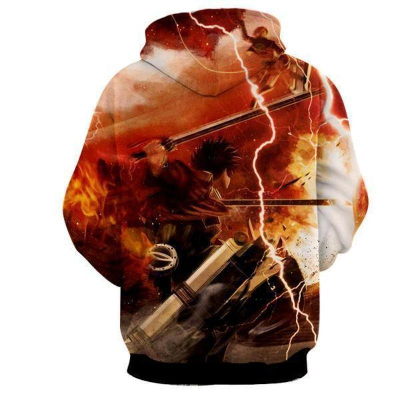 Attack On Titan Eren Yeager 3D Printed Hoodie