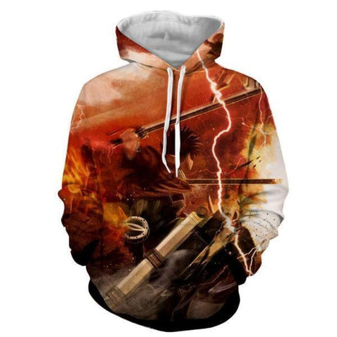 Image of Attack On Titan Eren Yeager 3D Printed Hoodie