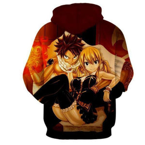 Fairy Tail Natsu And Lucy Sitting 3D Printed Hoodie