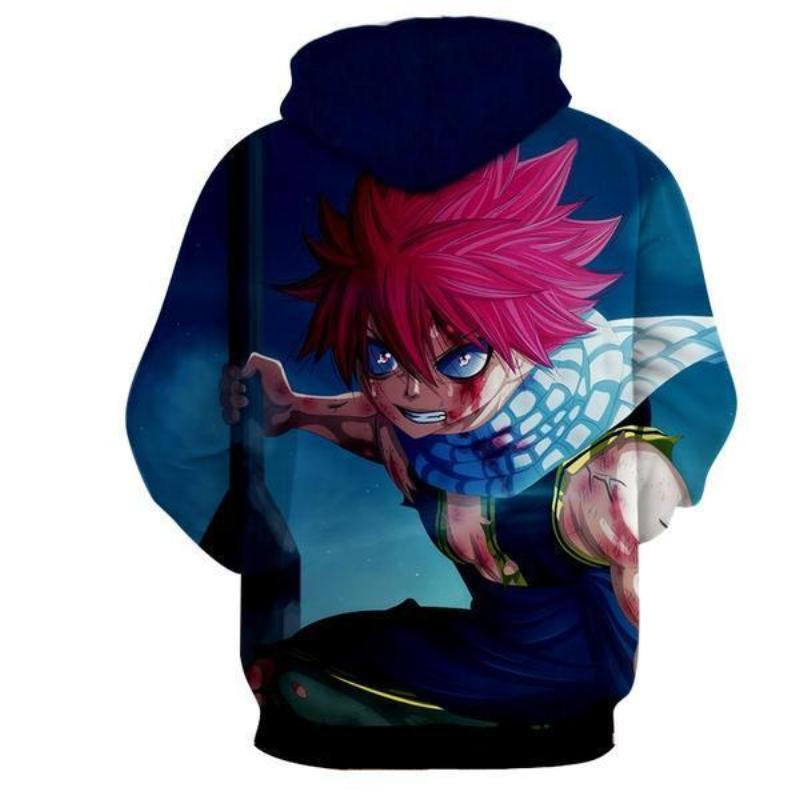 Fairy Tail Natsu Dragneel Blood Blue 3d Printed Hoodie