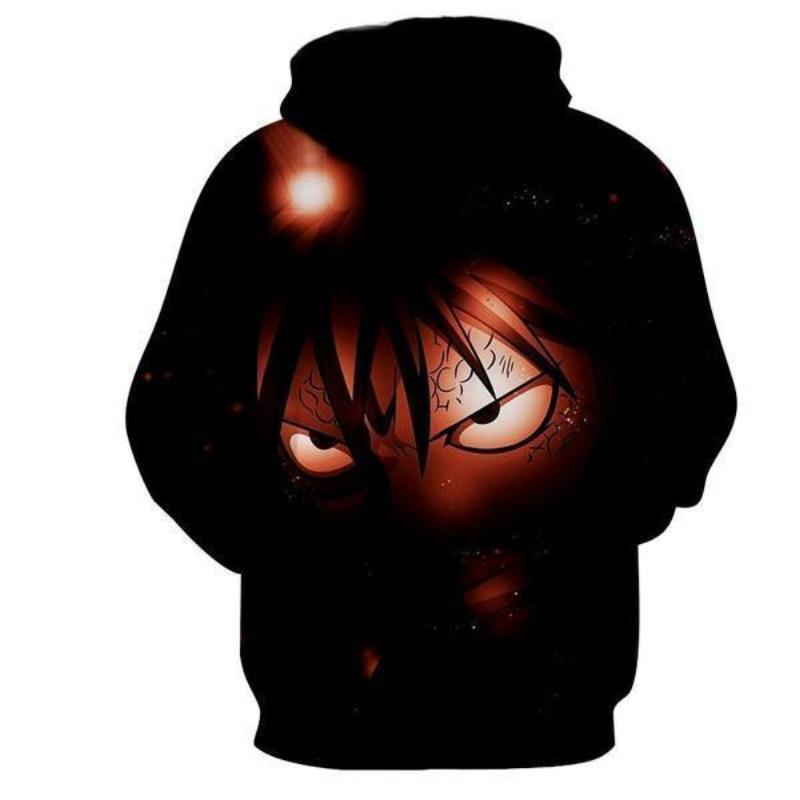 Natsu Dragneel Face Black Fairy Tail 3d Printed Hoodie
