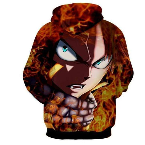 Image of Fairy Tail Natsu Dragon Scarf 3d Printed Hoodie