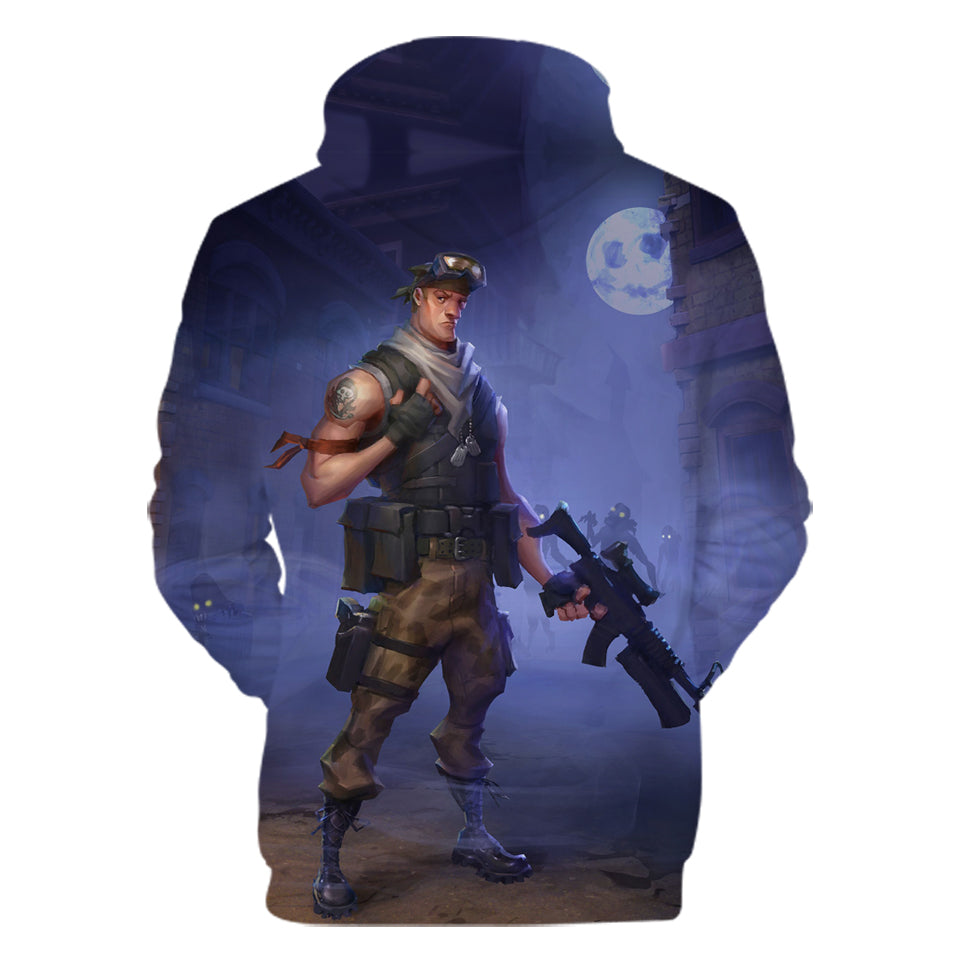 Fortnite Hoodies - PVE Hero Soldier 3D Hoodie