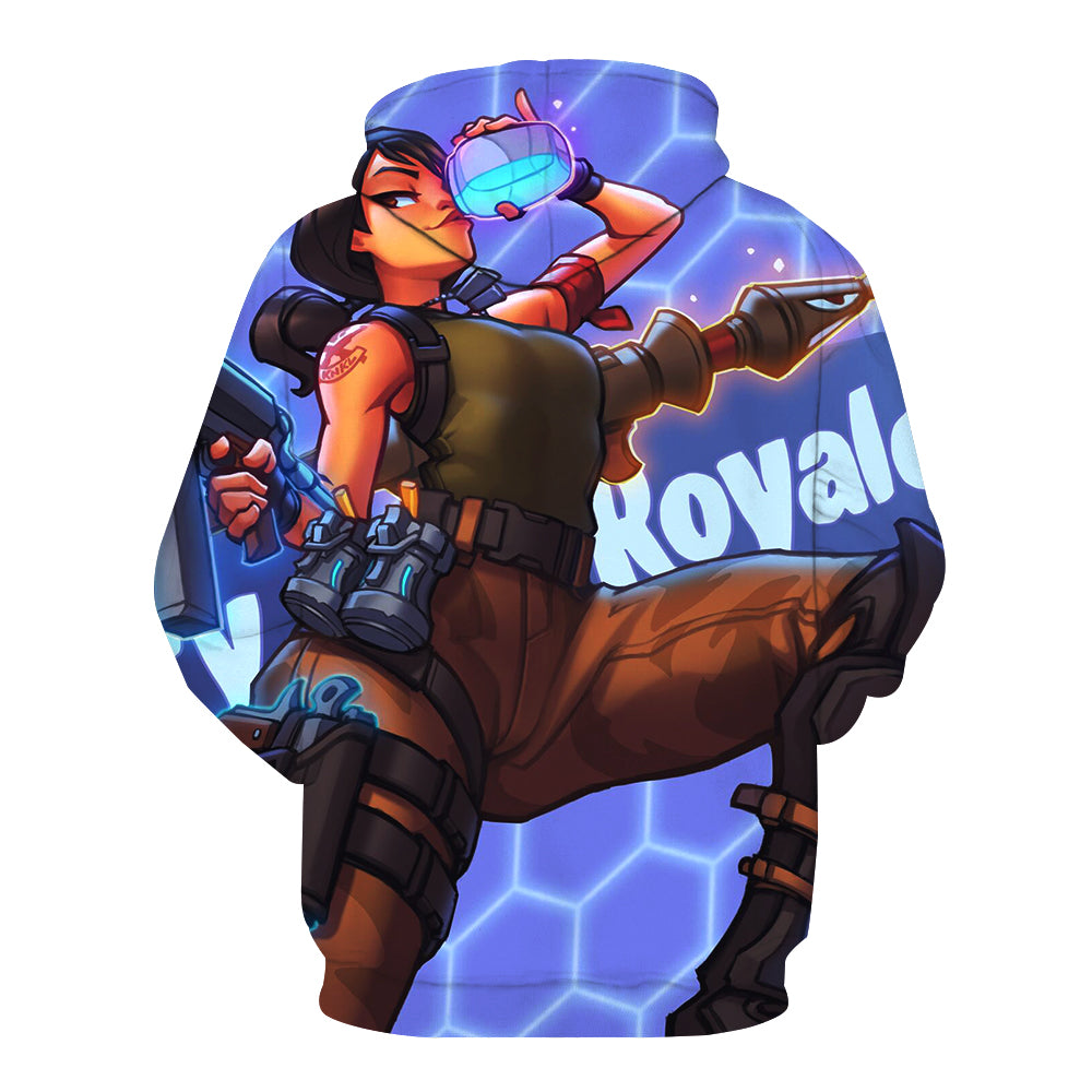 Fortnite Hoodies - Rose Team Leader 3D Hoodie