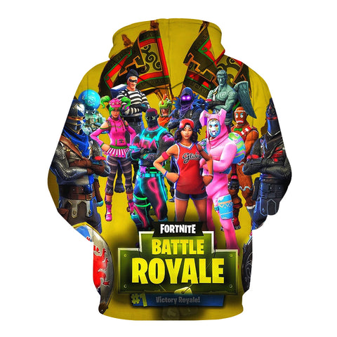 Fortnite Hoodies - Fortnite Victory Royale 3D Hoodie