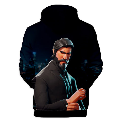 Fortnite Hoodies - John Wick The Reaper 3D Hoodie