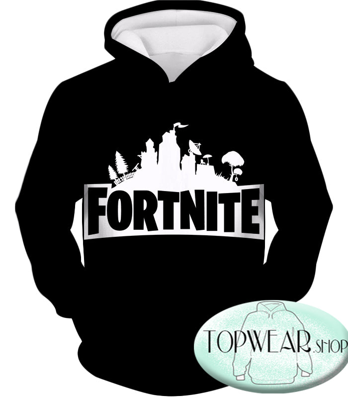 Fortnite Hoodies - Battle Royale Black 3D Zip Up Hoodie