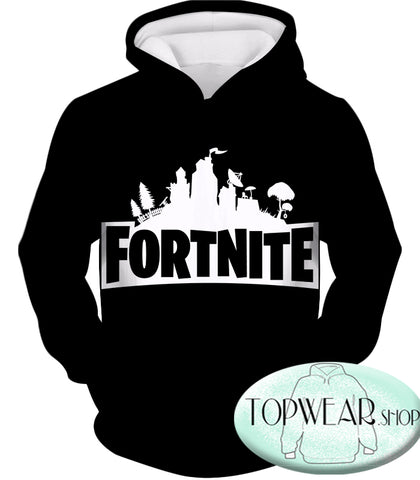 Image of Fortnite Hoodies - Battle Royale Black 3D Zip Up Hoodie