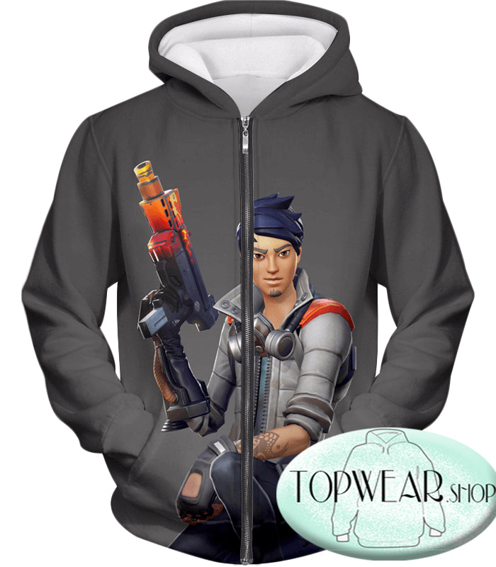 Fortnite Hoodies - Battle Royale Shock Specialist 3D Zip Up Hoodie