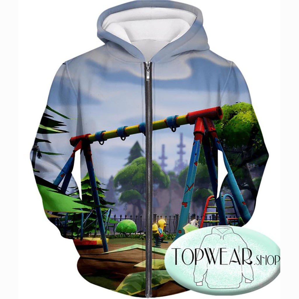 Fortnite Hoodies - Battle Royale Traps Gameplay 3D Zip Up Hoodie