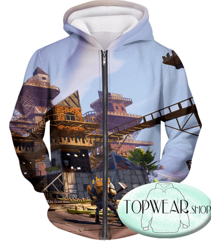 Image of Fortnite Hoodies - Builder Gameplay Battle Royale 3D Zip Up Hoodie