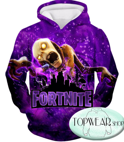 Image of Fortnite Sweatshirts - Monsters Purple 3D Sweatshirt