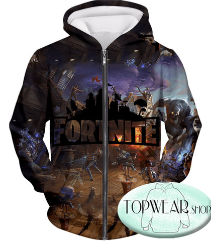 Image of Fortnite Hoodies - Save the World Gameplay 3D Zip Up Hoodie