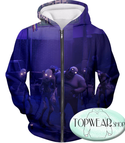 Image of Fortnite Hoodies - PVE Husk Monsters 3D Zip Up Hoodie