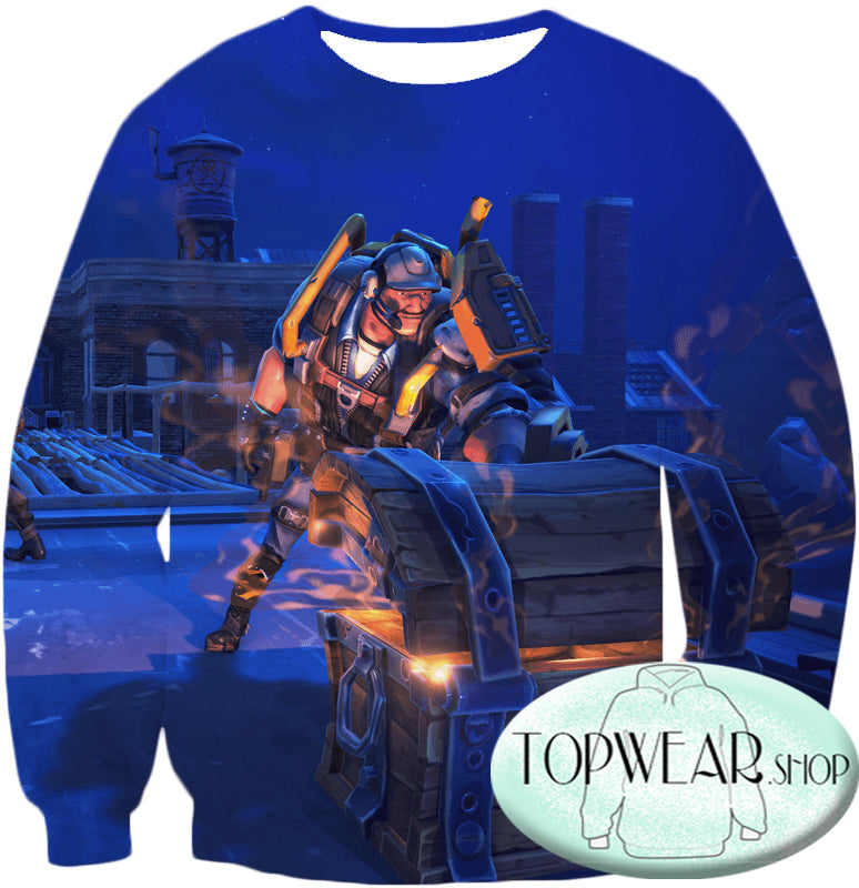 Fortnite Sweatshirts - Battle Royale Chest Rewards 3D Sweatshirt