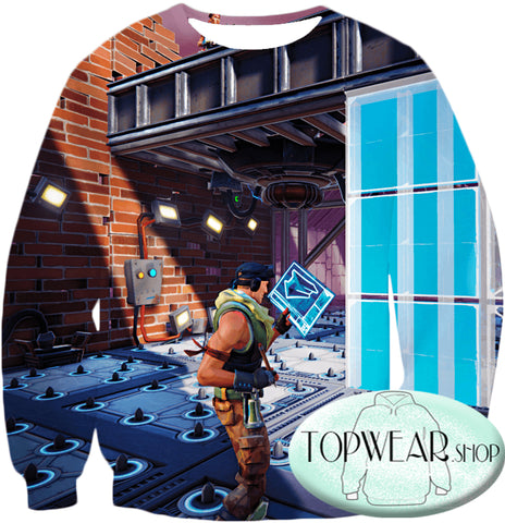 Image of Fortnite Hoodies - Battle Royale Constructor 3D Zip Up Hoodie