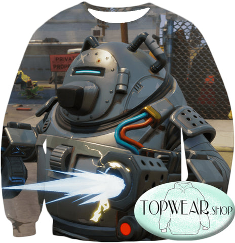 Image of Fortnite Hoodies - Robot Defender T.E.D.D.Y 3D Hoodie