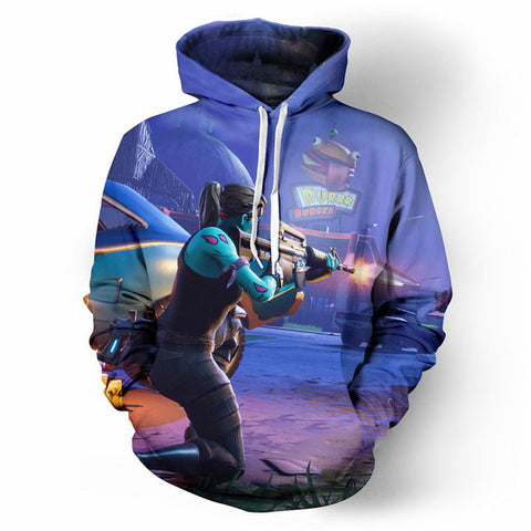 Fortnite Hoodies - PVE Ghoul Trooper 3D Hoodie