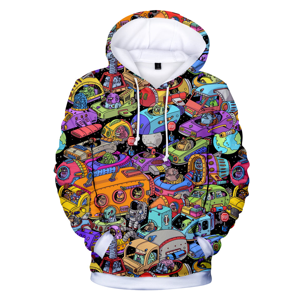 Fortnite Hoodies - Alien Space Station 3D Hoodie
