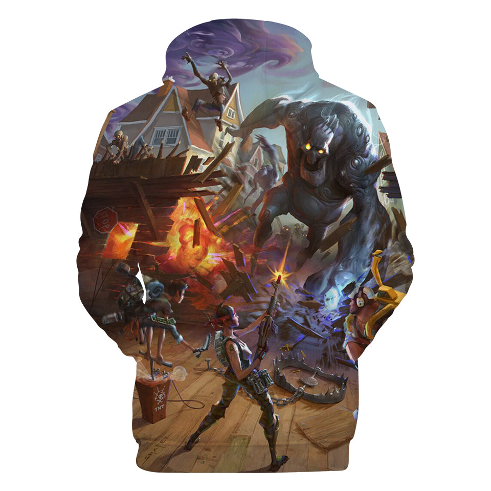 Fortnite Hoodies - Game Undead Monster 3D Hoodie