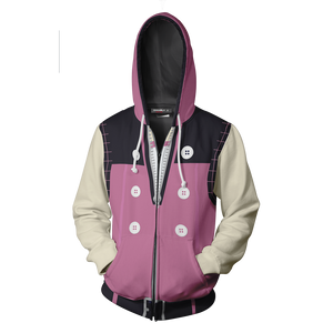 Kingdom Hearts III Kairi Hoodies - Zip Up Pink Cosplay Hoodie