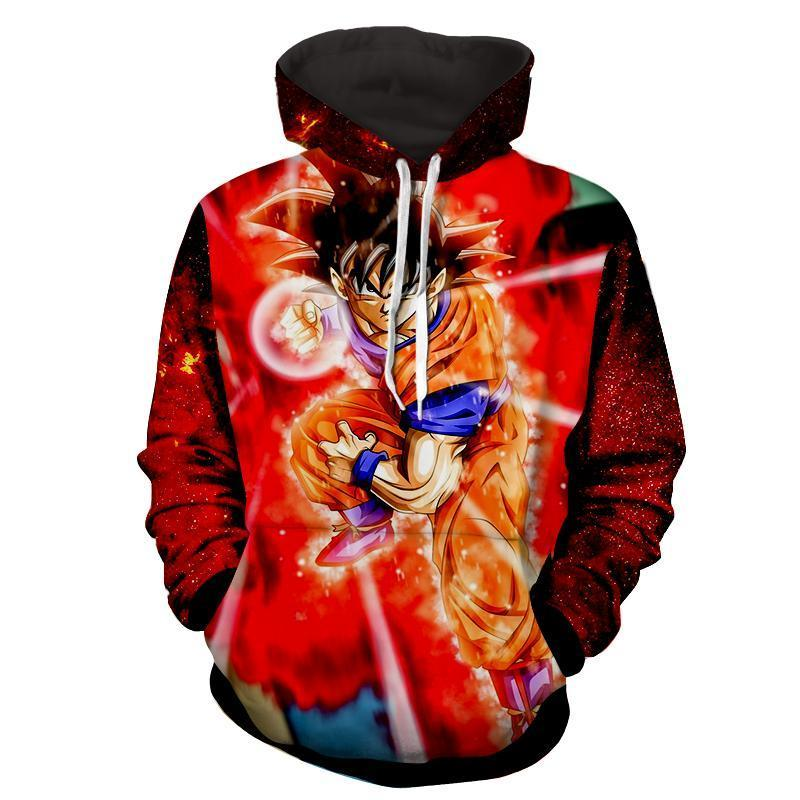 GOKU Kaioken 10x God Dragon Ball 3D Hoodie