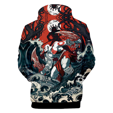 Game God Of War 3D Print Hoodies - Fashion Sweatshirt Pullover