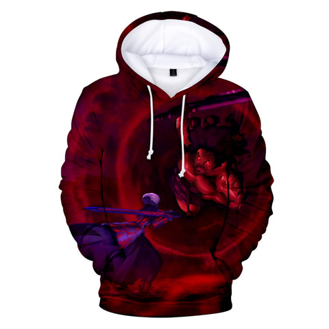 Image of 3D Print Fate Stay Night Hoodies Sweatshirts Pullover