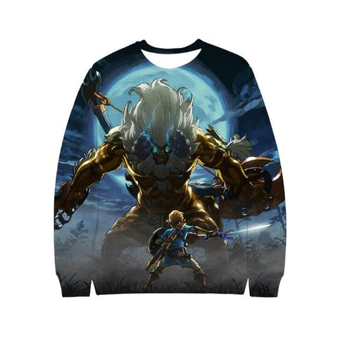 Game The Legend of Zelda Anime Link Majora's 3D Crewneck Sweatshirt