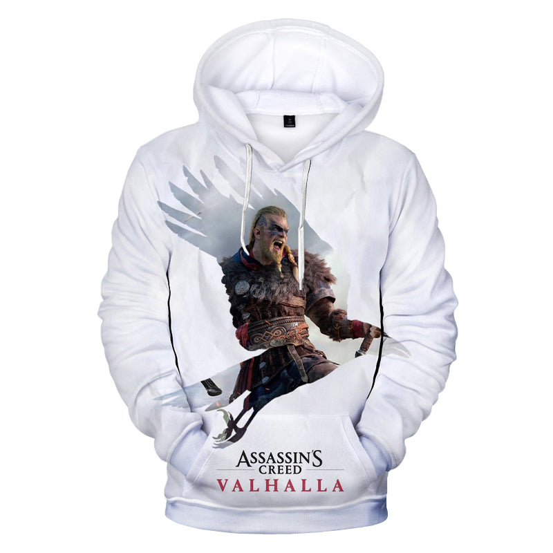 Game Assassins Creed Valhalla 3D Print Hoodie Sweatshirts