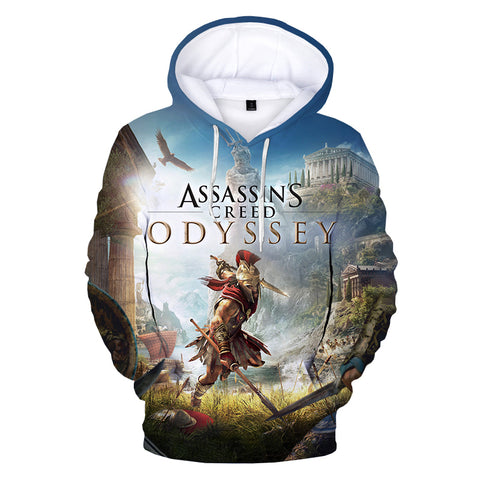 Image of Game Assassins Creed Valhalla 3D Print Hoodie Sweatshirts