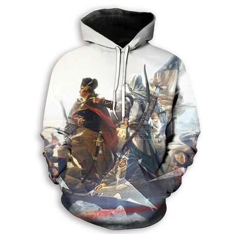 Image of 3D Print Game Assassin's Creed Hoodies