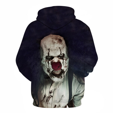 Image of Halloween Clown Devil Print Hoodie