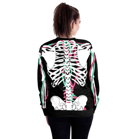 Image of Halloween skeleton round neck Sweater