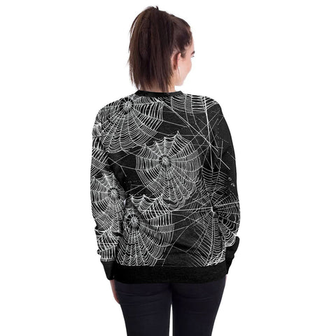 Image of Halloween Spider Web Round Neck Sweater