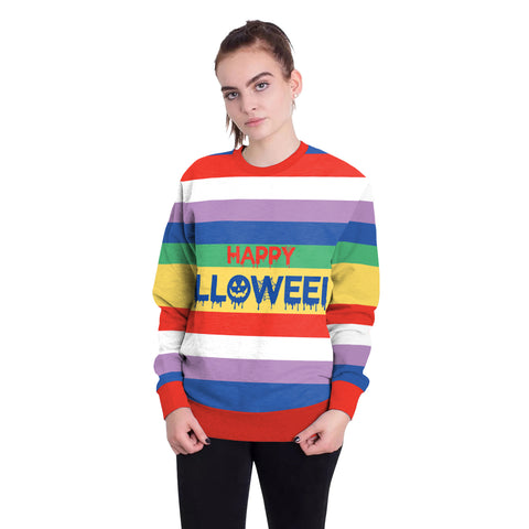 Image of Halloween colored round neck Sweater
