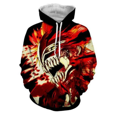 Image of Bleach Ichigo Hollow Rogue Face Mask 3D Hoodie