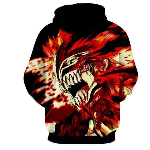 Bleach Ichigo Hollow Rogue Face Mask 3D Hoodie