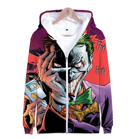 Suicide Squad Hoodies - Joker Series Terror Joker Icon Unisex 3D Zip Up Hoodie