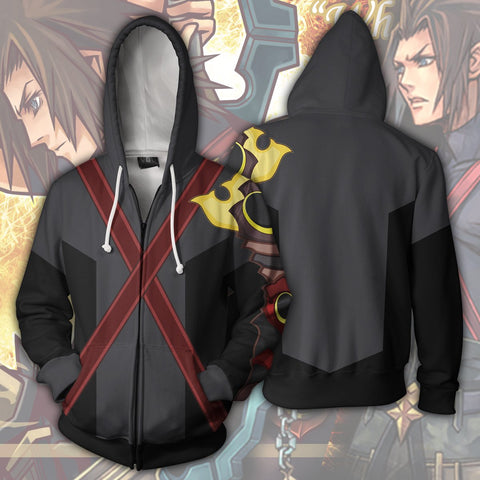 Kingdom Hearts Terra Hoodies - Zip Up Red X Hoodie